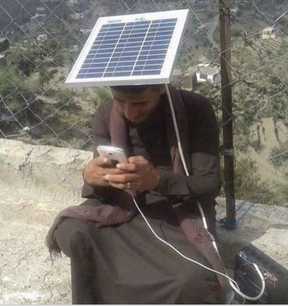 Solar powered GSM Phone