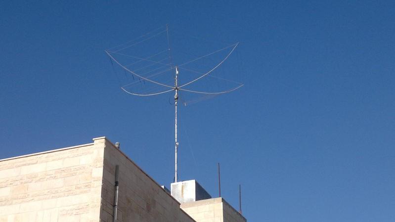 JY5IB Nart Tahamouqa, Amman, Jordan. Antenna.