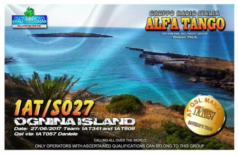 1AT/S027 QSL Ognina Island