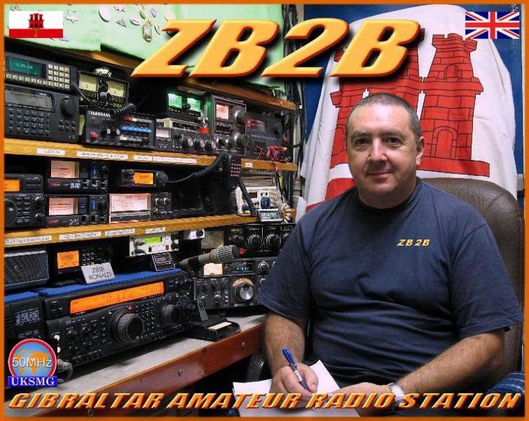 ZB2B Ronald, Gibraltar. Radio Room Shack.
