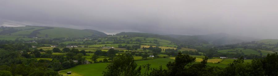 GW5D Rainy Landscape, near Mold, Wales.