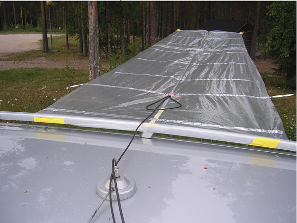 Cellophane 11 element Yagi antenna
