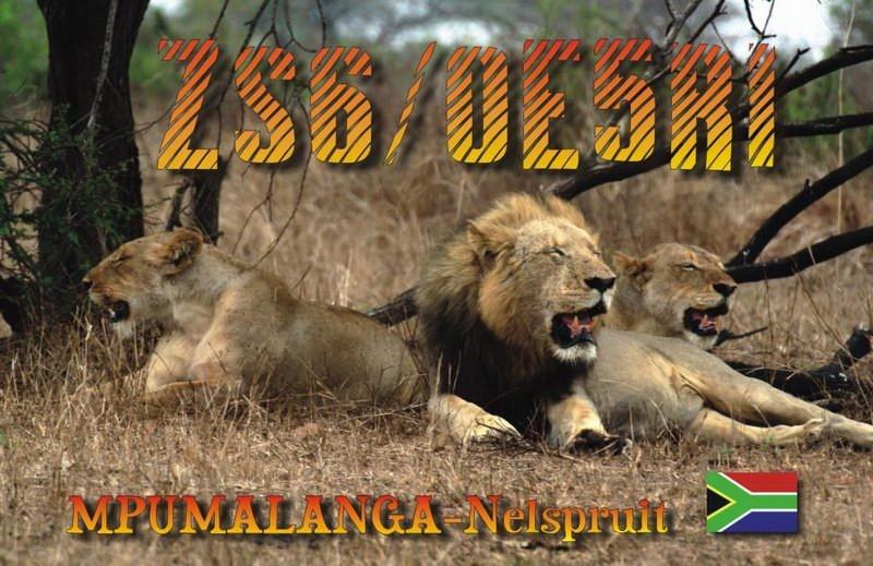 ZS6/OE5RI Karl Reinprecht, Mpumalanga, Nelspuit, South Africa. QSL Card.