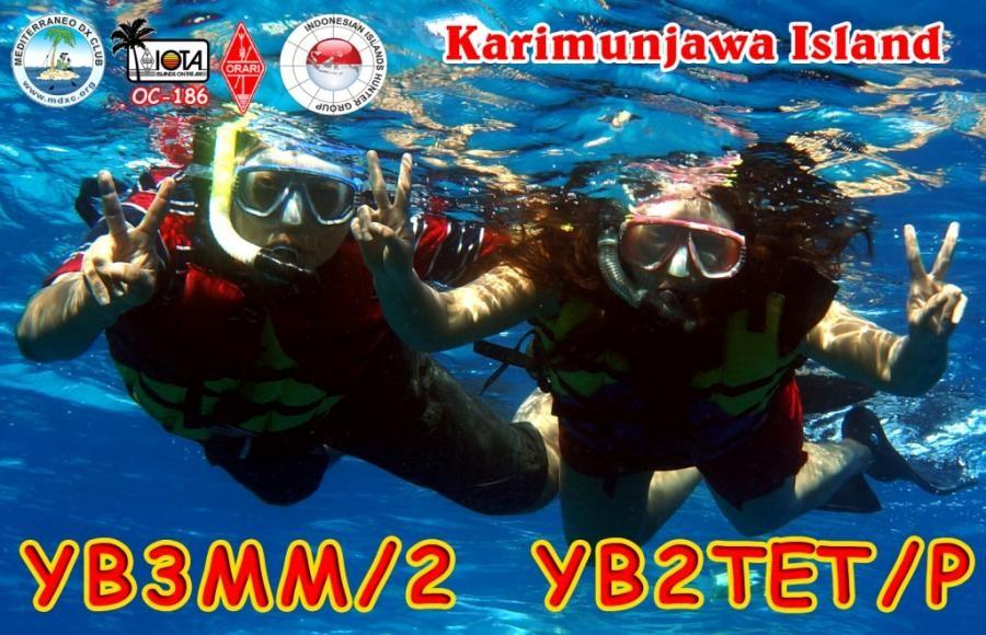 YB3MM/2 Karimunjawa Island QSL
