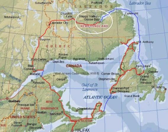 VO2VC Goose Bay, Labrador.