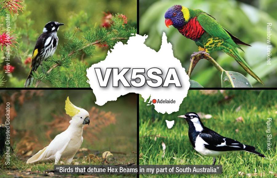 VK5SA Chris Levingston QSL. Adelaide, Australia.