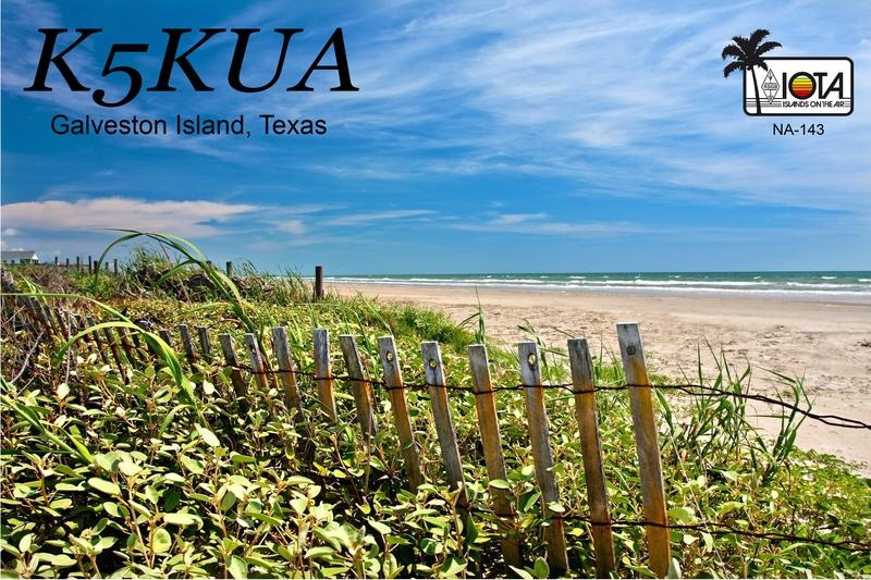 K5KUA/5 Galveston Island Texas Joe Gibson