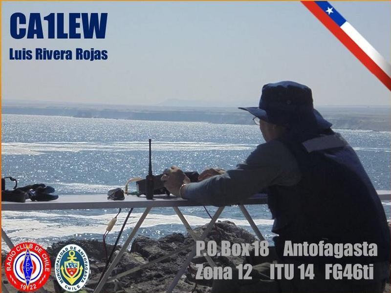 CA1LEW Luis Eduardo Rivera Rojas, Antofagasta, Chile. QSL Card