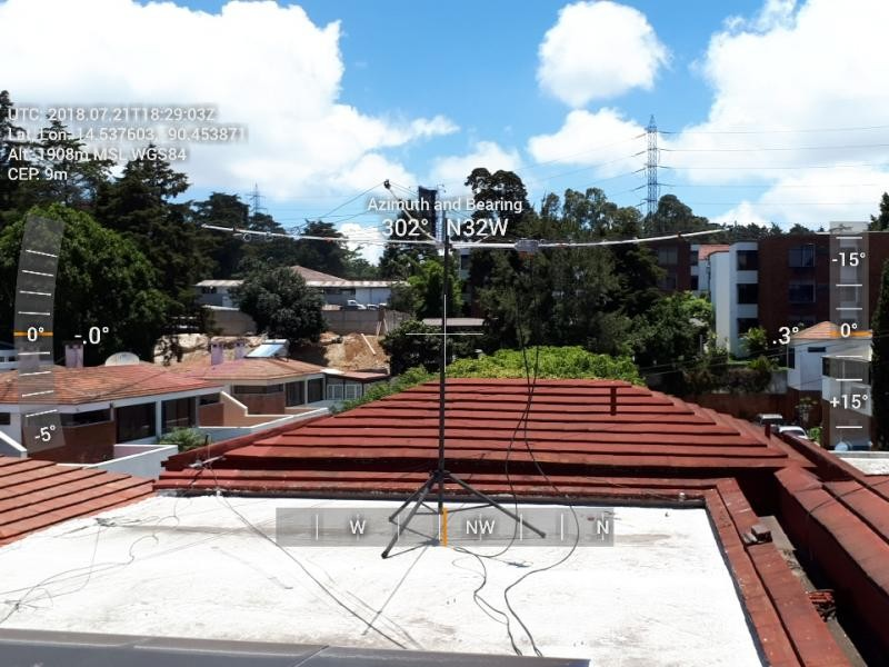 TG9AOR Jose Roberto Ruiz Garcia Salas, Guatemala. Antenna.