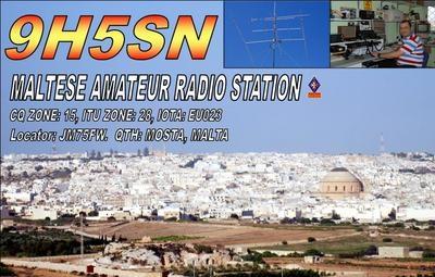 9H5SN Marco Sciberras QSL Mosta Malta