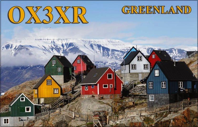 OX3XR Peter Thulesen, Nuuk, Greenland. QSL Card.