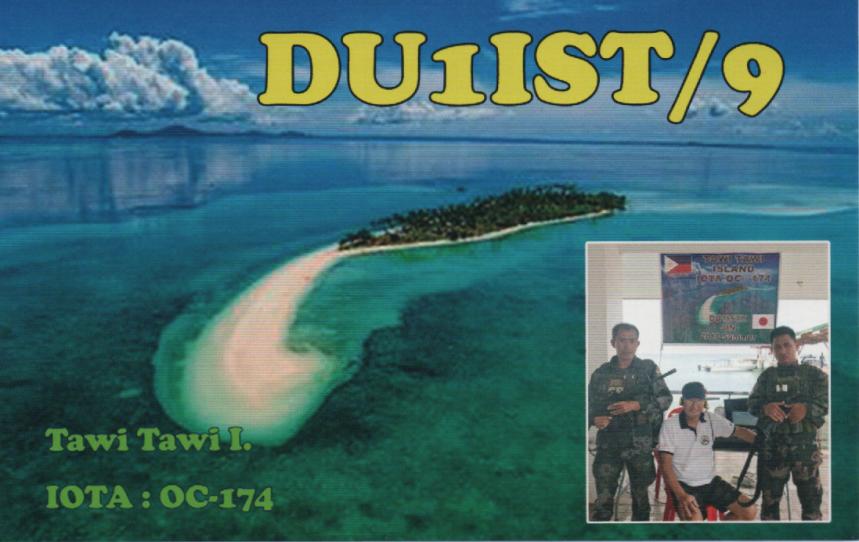 DU1IST/9 Tawi Tawi Island. QSL Card.
