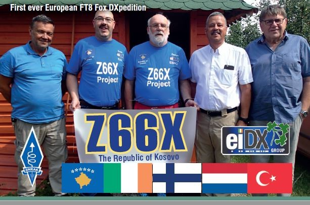 Z66X Kosovo FT8 DX Pedition QSL Card