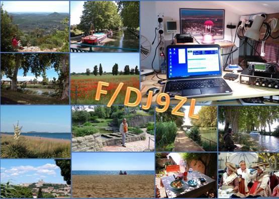 F/DJ9ZL Jurgen Meisburger, Portriragnes, France. QSL Card.