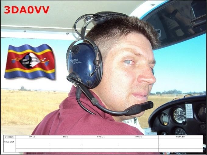 3DA0VV Vincent Molloy, Mhlambanyatsi, Swaziland. QSL Card.
