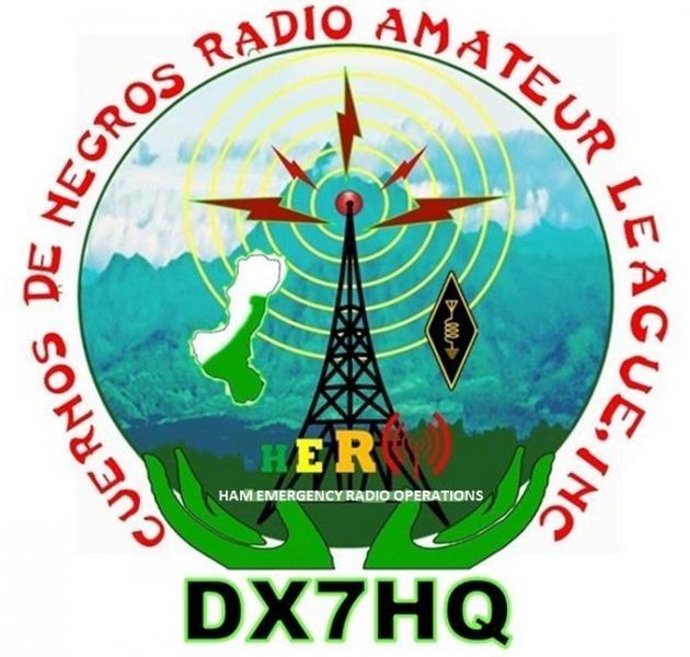 DX7HQ Cuernos De Negros Radio Amateur League, Dumaguete, Negros Island, Philippines. Logo.