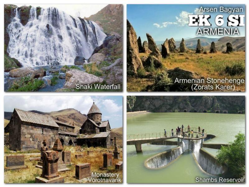 EK6SI Arsen Bagayan, Sisian, Armenia. QSL Card