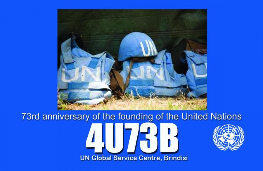 4U73B 73rd Anniversary of founding United Nations. Brindisi, Italy.