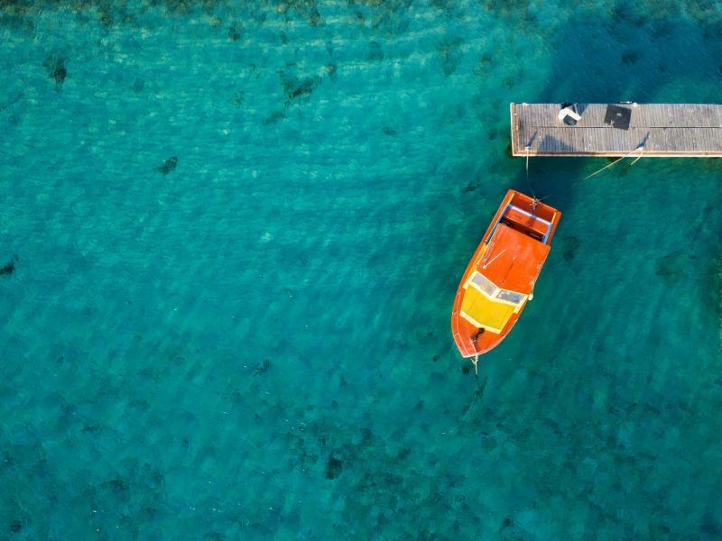 PJ4/W1MD Ripples of blue, Bonaire Island.