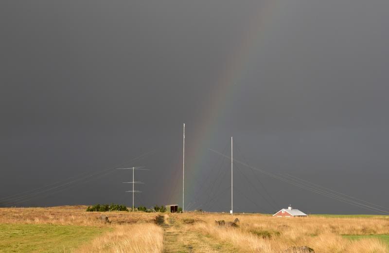 TF1AM TF3AM Andres Thorarinsson, Mosfellsbaer, Iceland. Antennas.