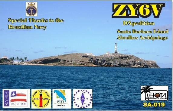 ZY6V Abrolhos Island QSL Card