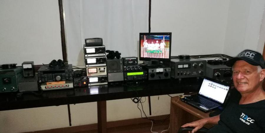 TI2CC TI1T Carlos Paez, Costa Rica. Radio Room Shack.