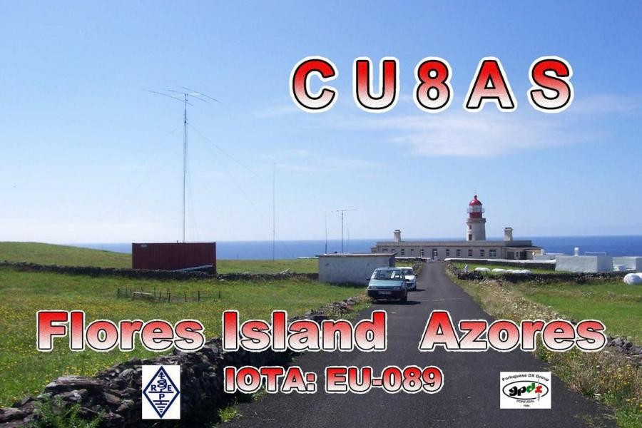 CU8AS Antonio Madeira, Santa Cruz das Flores, Flores, Azores. QSL Card.