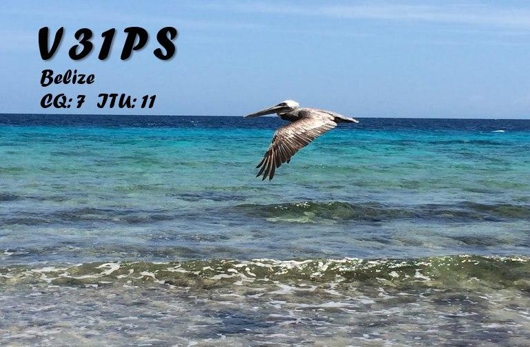 V31PS Belize QSL. Op DK6SP Philipp Springer.