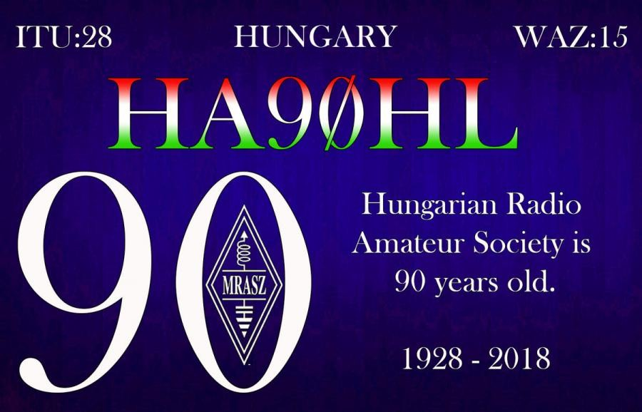 HA90HL Budapest, Hungary. MRASZ 90 years.