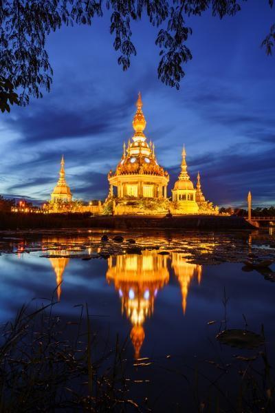 HS0ZIL Wat Thung Setthi Temple, Khon Kaen, Thailand.