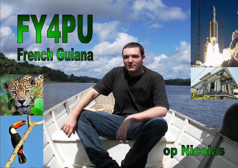 FY4PU. Nicolas Fraysse QSL. Caynne, French Guiana.