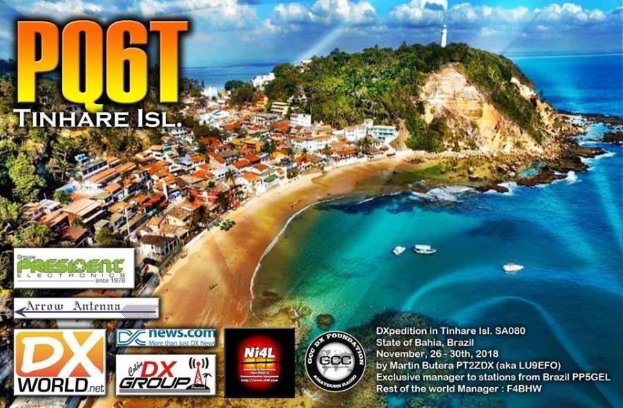 PQ6T Tinhare Island QSL Card
