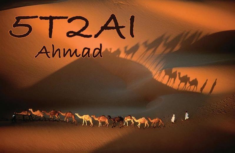 5T2AI. Ahmad Al-Ghanim QSL. Nouakchott, Mautirania.