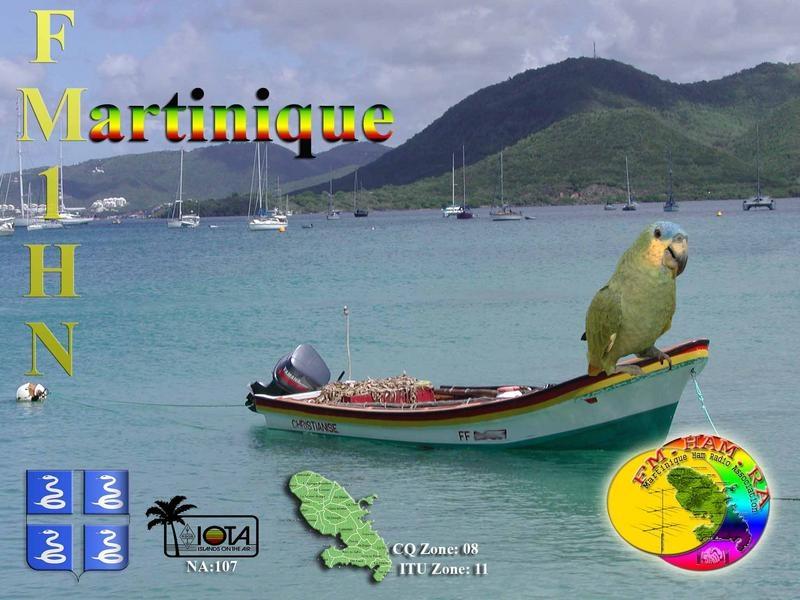 Julien FM1HN QSL. Martinique.