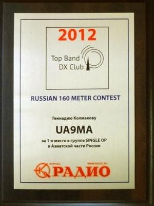 Russian 160m Contest 2018