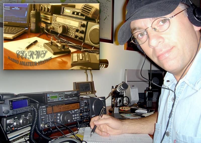 CE4RWS Hector Quintas, Talca, Chile. Radio Room Shack.