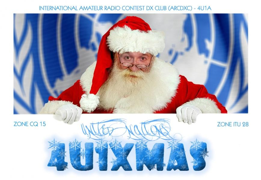4U1XMAS Santa United Nations Vienna Austria