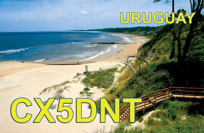 CX5DNT Ghis Penny, Montevideo, Uruguay. QSL Card