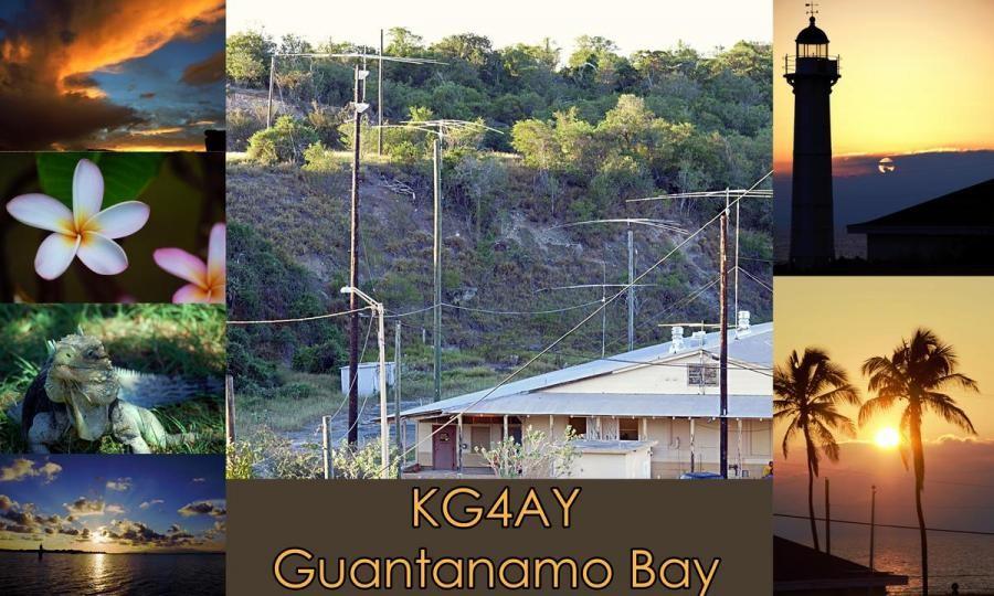 KG4AY David Peck, Guantanamo Bay. QSL Card