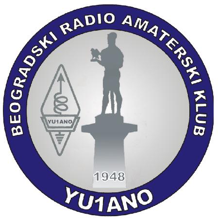 YU1A Beogradski Radio Amaterski Klub, Beograd, Serbia. Logo
