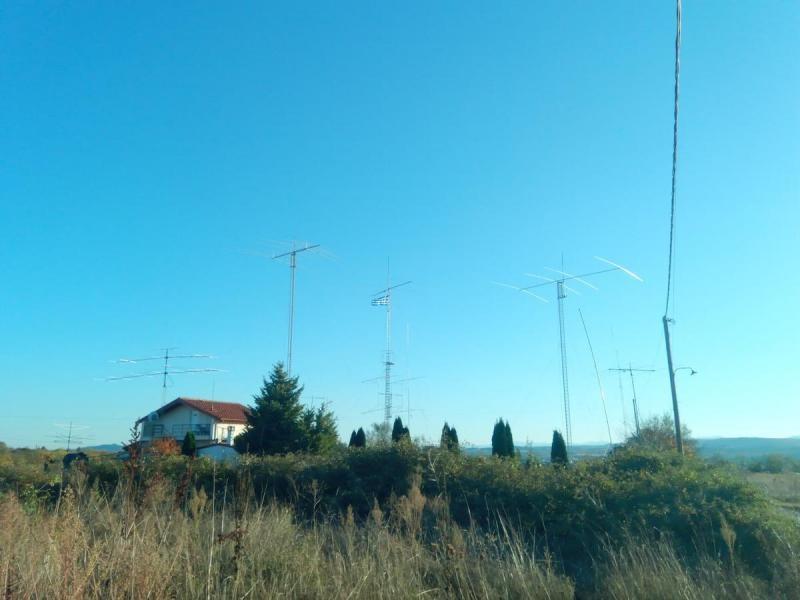 SV2/UA3ASZ Kastoria, Greece. Antennas