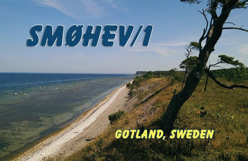 SF1Z Jens Zander, Gnisvard, Gotland Island. QSL Card.