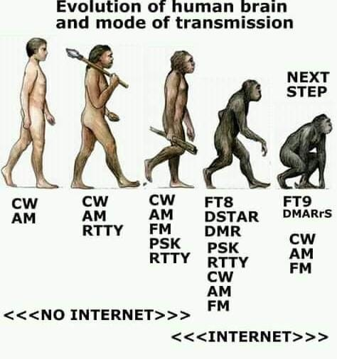 Evolution of human brain and mode of transmission