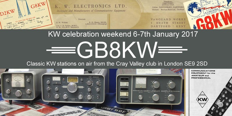 GB8KW Cray Valley Radio Society, Eltham, England. KW Electronics