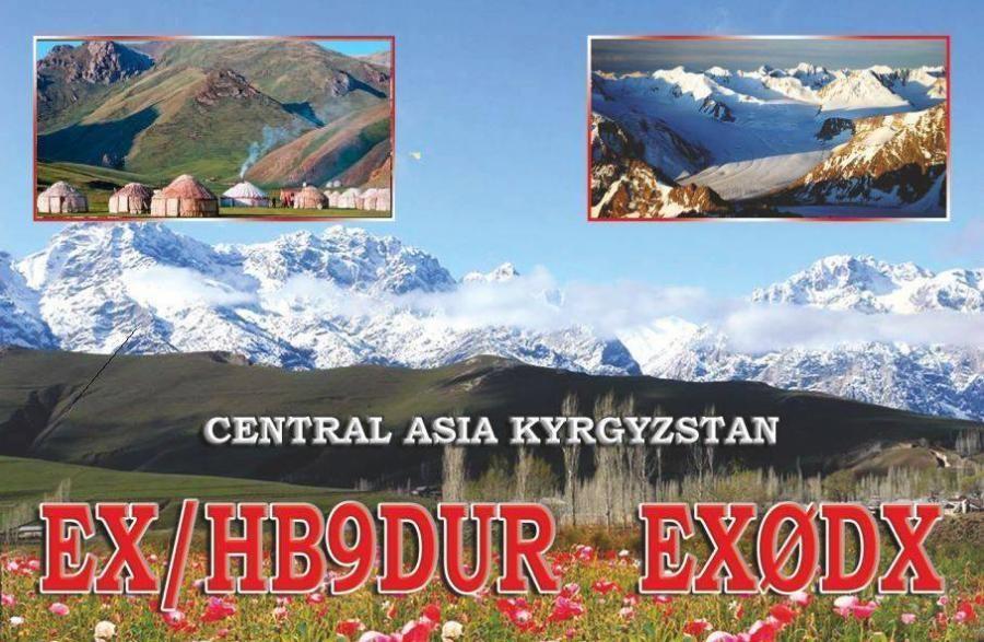 EX0DX Andrea Bianchi, Bishkek, Kyrgyzstan. QSL Card