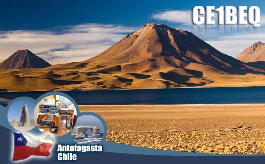 CE1BF Jorge Maluenda, Antofagasta, Chile. QSL Card.
