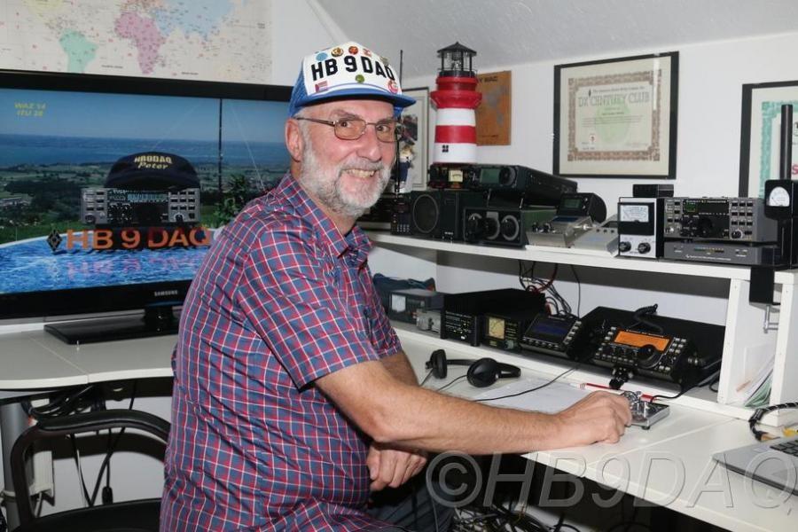 HB90DAQ Peter Lueckert, Walzenhausen, Switzerland. Radio Room Shack