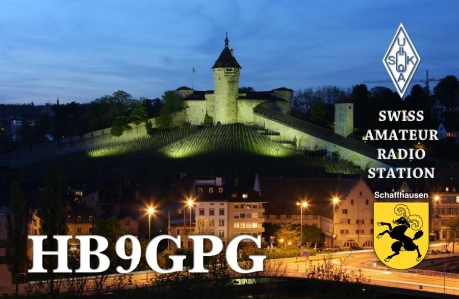 HB90GPG Heinz Wortmann, Schaffhausen, Switzerland. QSL Card.