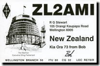 ZL2AMI Bob Stewart, Wellington, New Zealand