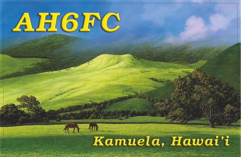 AH6FC William Garnett, Kamuela, Big Island, Hawaiian Islands